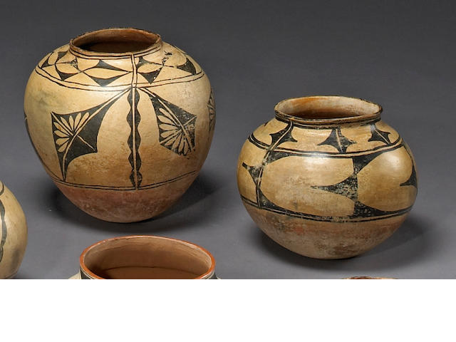 Two Cochiti or Santo Domingo jars