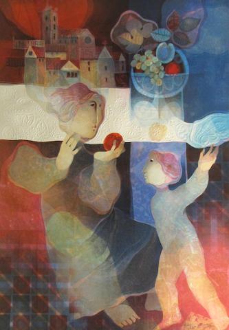 Alvar Suñol (Spanish, born 1935); Untitled (Woman with Apple);