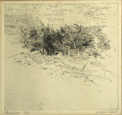 Gordon Cook (American, 1927-1985) Landscape Etching