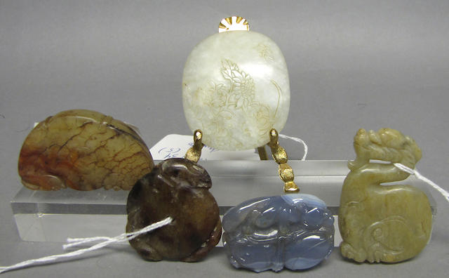 A group of small archaistic jade pendants