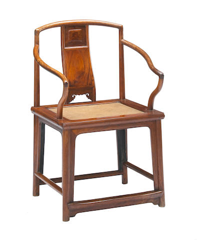 A huanghuali low back armchair, Guiyi 18th Century