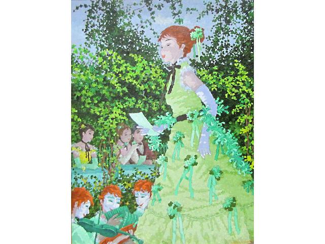 Suzanne Eisendieck (German, 1908-1998) Concert champêtre 47 x 36in
