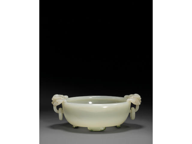 A fine white jade marriage bowl 18th Century