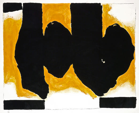Robert Motherwell (American, 1915-1991); Burning Elegy;