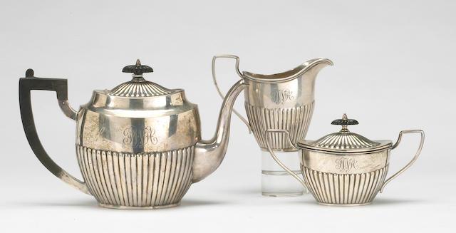 Sterling Three Piece Tea Set in the Regency Taste by International