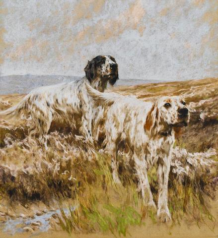 Arthur Wardle, RI (British, 1864-1949) Scent on the breeze 20 1/2 x 18 11/16 x 52 x 4.5 in.)