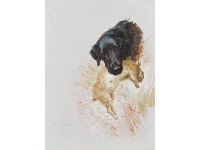Maud Earl (British, 1863-1943) Retriever with game each 24 x 18 in. (61 x 45.6 cm.) (2)