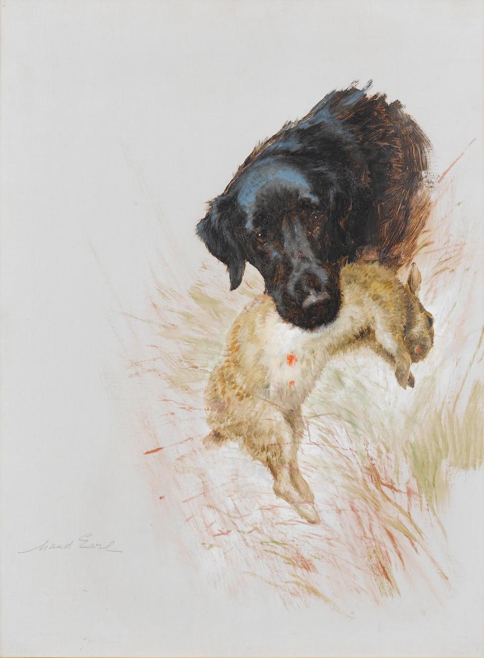 Maud Earl (British, 1863-1943) Retriever with game each 24 x 18 in. (61 x 45.6 cm.) (2)