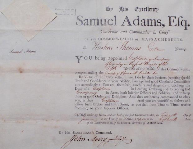 ADAMS, SAMUEL. 1722-1803.