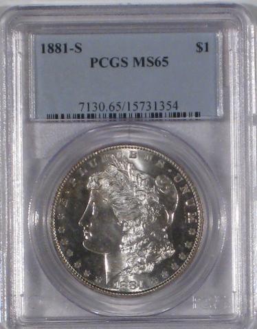 1881-S $1 MS65 PCGS