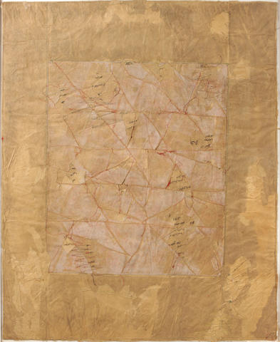 Charles Christopher Hill, Paper and Stitchery, 1980, 38 x 49in