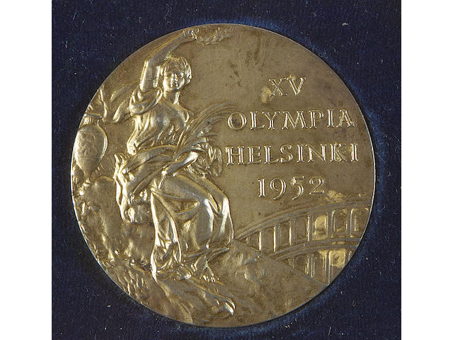 An Olympic gold medal from the 1952 Helsinki Olympics