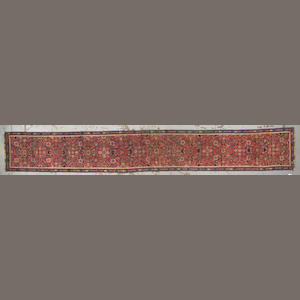 A Karabagh runner Caucasus size approximately 16ft 3in. x 2ft. 3in.