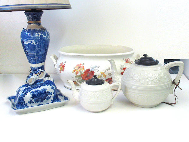 An assembled grouping of ceramics second half 19th/early 20th century