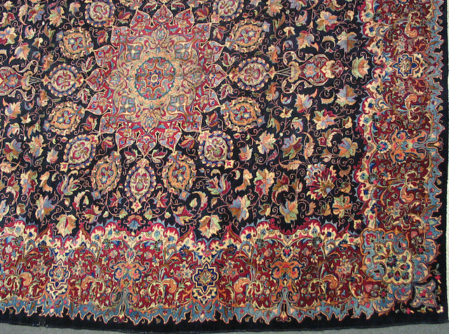 A Kerman carpet size approximately 10ft. x 12ft.