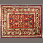 A Shirvan rug size approximately 4ft. 4in. x 5ft. 6in.