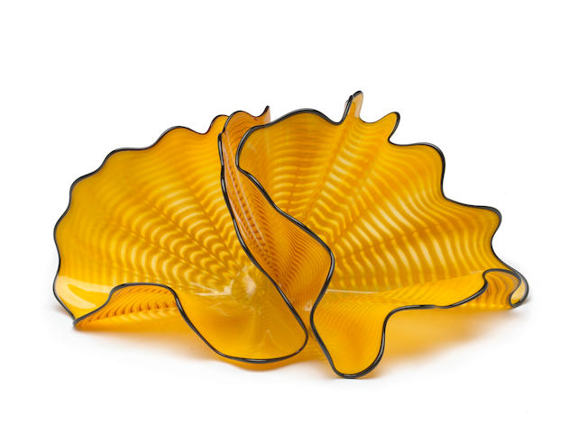 Dale Chihuly (American, born 1941) Radiant Persian Pair, 2003 (2) 8 x 11 x 10in  height with base 9 1/4in