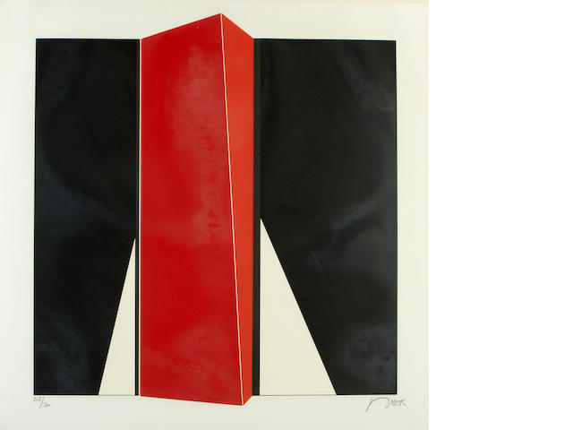 Jean Baier (Swiss, born 1932); Untitled (Red Vertical);