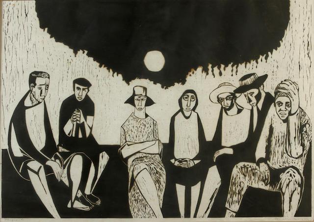 Samella Sanders Lewis (American, born 1924); Migrants;