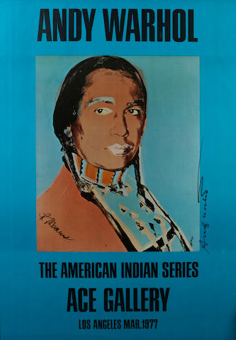 Andy Warhol (American, 1928-1987); The American Indian Series, Ace Gallery;