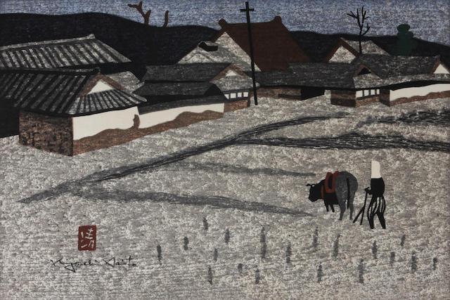 Kiyoshi Saito (Japanese, 1907-1992); 4 Prints of Japan; (4)