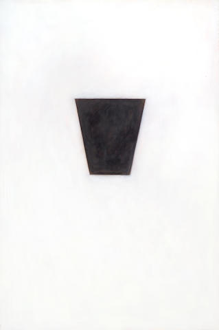 Robert Therrien Untitled (Black Keyston or Black on White) 1989