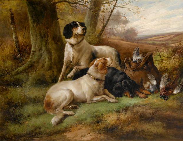 John Gifford (British, 19th Century) A successful day 28 1/8 x 36 1/4 in. (71.5 x 92 cm.)