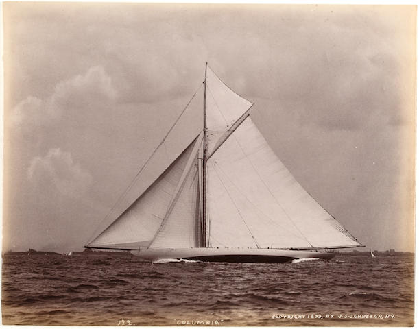 Herreshoff Yachts; 19th century 6-1/2 x 8-1/4 in. (   cm.) each with slight variations. 5