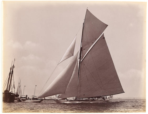 A group of yachting photographs circa 1897 6-1/2 x 8-1/4 in. (   cm.) each with slight variations. 5