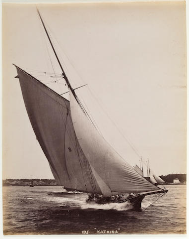 (n/a) John S. Johnson (American, 1839-1899), circa 1887 A group of five (5) yachting photographs 8-1/2 x 6-1/2 in. (21.6 x 16.5 cm.)