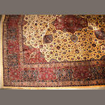 A Meshed carpet size approximately 15ft. x 15ft.