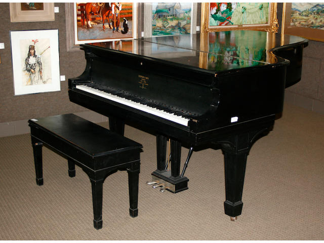 A Steinway and Sons ebonized grand piano  circa 1908