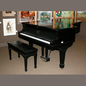 A Steinway and Sons ebonized grand piano <br>circa 1908