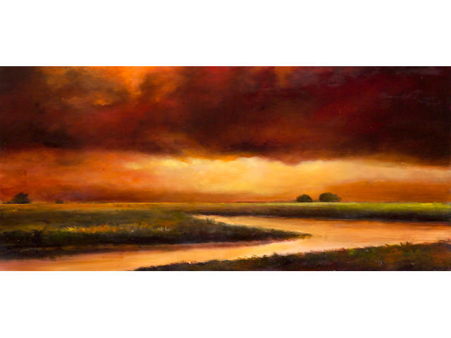 Michael Gregory (American, born 1955) A Lambent Light, 1989 22 x 48in
