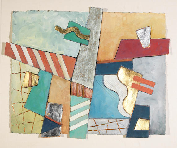Tom Bianchi (American, born 1945) Geometric Song #6, 1984;  Geometric Song #7, 1984 (2) each 22 x 27in