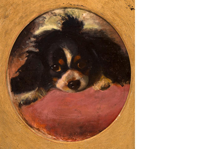 Follower of George Earl (British, 1824-1908) Cavalier King Charles Spaniel 15 3/34 x 14 1/4 in. (40.0 x 36.2 cm.)