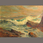 Charles  Vickery (American, 1913-1998) Seascape 9 x 12in