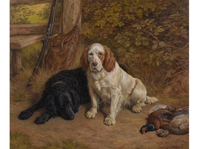 Frank Paton (British, 1856-1909) The squire's friends 20 x 24 in. (51 x 61 cm.)