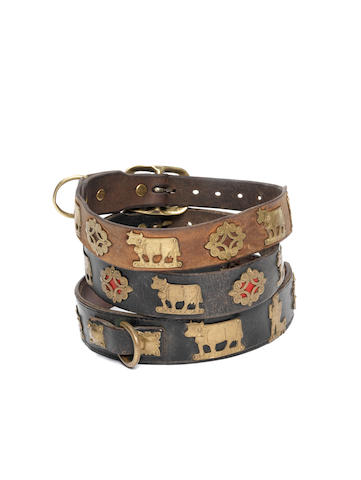 Swiss School, An eary twentieth century Swiss dog collar, used for the Greater Swiss Mountain Dog