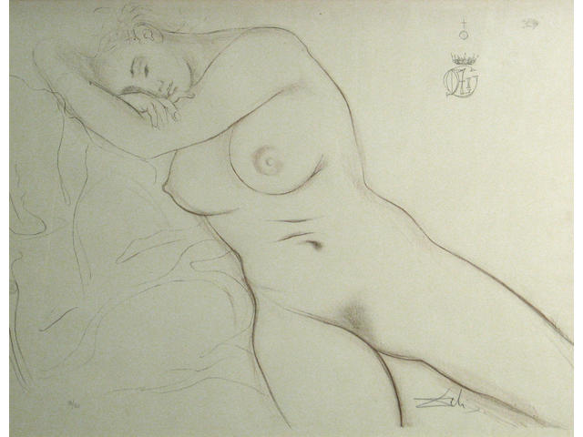 Salvador Dalí (Spanish, 1904-1989); from Nudes series; (5)