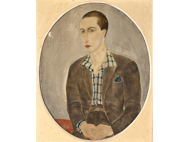 LEONARD TSUGUHARU FOUJITA (1886-1968) Portrait of a young man