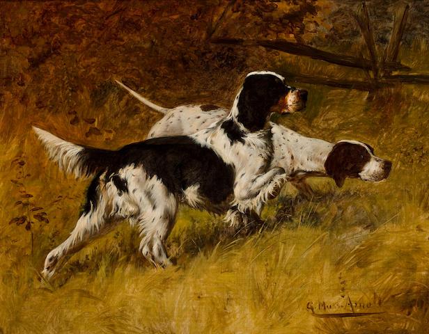 Gustav Muss-Arnolt (American, 1858-1927) On Point 16 x 20 in. (40.6 x 50.8 cm.)