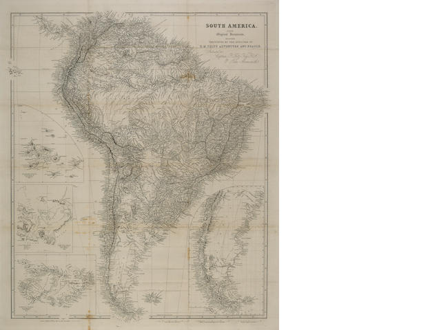 DARWIN, CHARLES. 1809-1882; ROBERT FITZROY. 1805-1965; & PHILIP PARKER KING. 1793-1856.