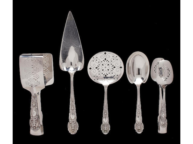 An extensive American silver flatware service Manufactured and retailed by Tiffany & Co., New York 1907-47 Renaissance pattern  (237)