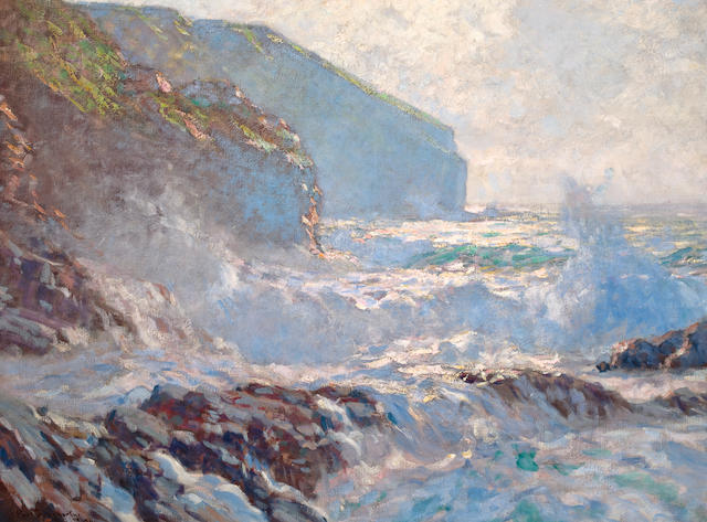 Paul Dougherty (American, 1877-1947) Sunlight and Surf 54 1/4 x 36 in.