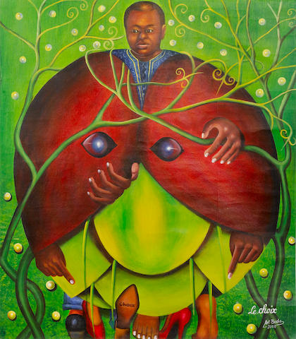 Camille-Pierre Pambu Bodo (Dem. Republic of the Congo, born 1953) 'Le choix' unframed