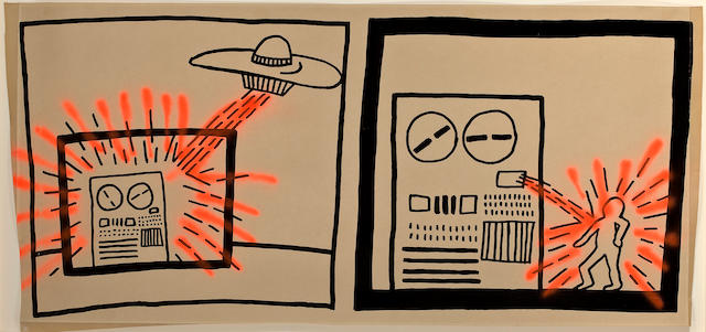 Keith Haring (American, 1958-1990) Untitled, 1980 32 1/2 x 69 1/2in