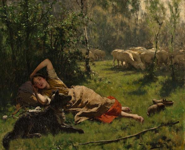 (n/a) Evariste Carpentier (Belgian, 1845-1922) The noon hour 23 1/4 x 28 1/4in (59 x 71.7cm)