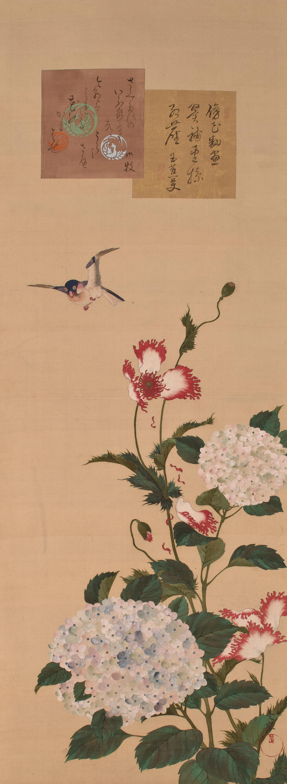 ZEKU, 19TH CENTURY Birds, animals and flowers of the twelve months