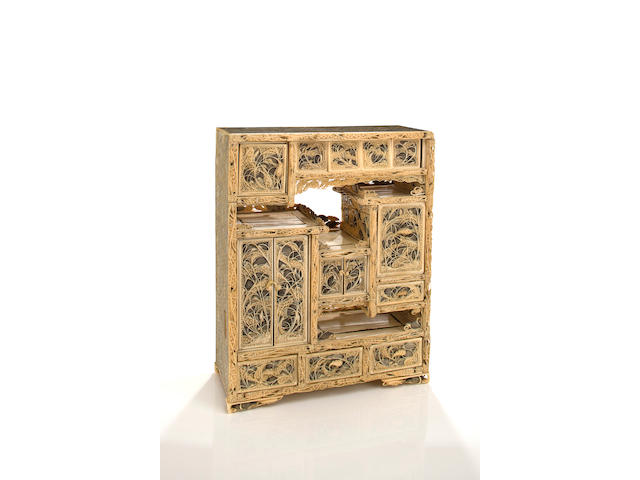 A STORAGE CABINET (CHIGAIDANA) By Yoshikazu, late 19th century